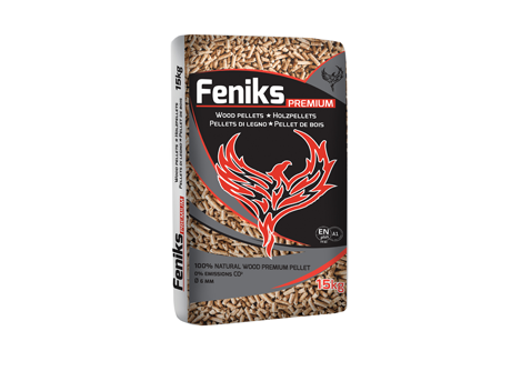 Pellet FENIX 6mm worki 15 kg